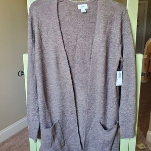 Old navy plush knit long line open front sweater